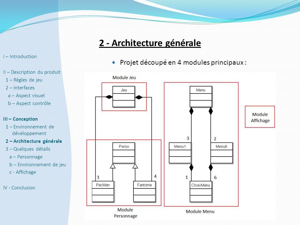 2 - Architecture générale