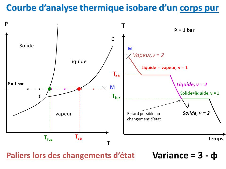 Courbe d'analyse thermique isobare d'un corps pur
