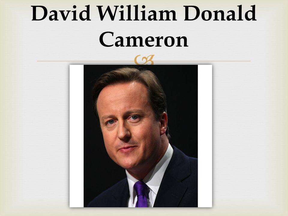 David William Donald Cameron