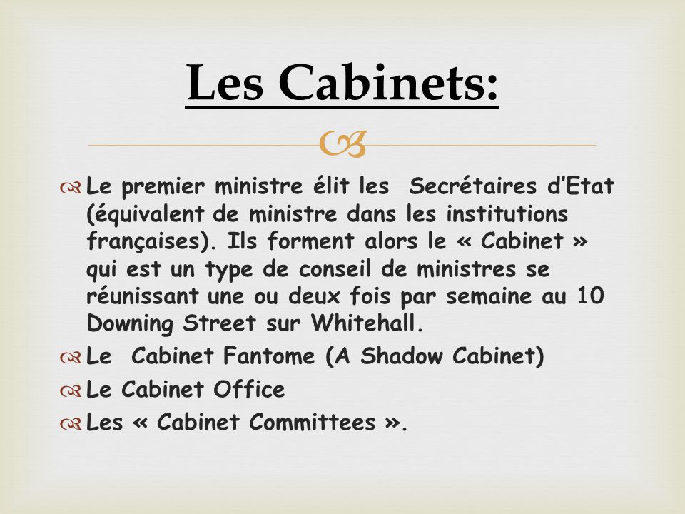 Les Cabinets: