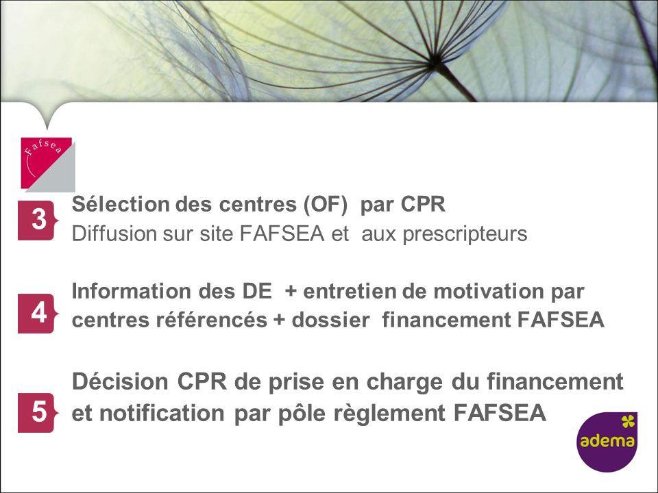 3 4 5 Décision CPR de prise en charge du financement