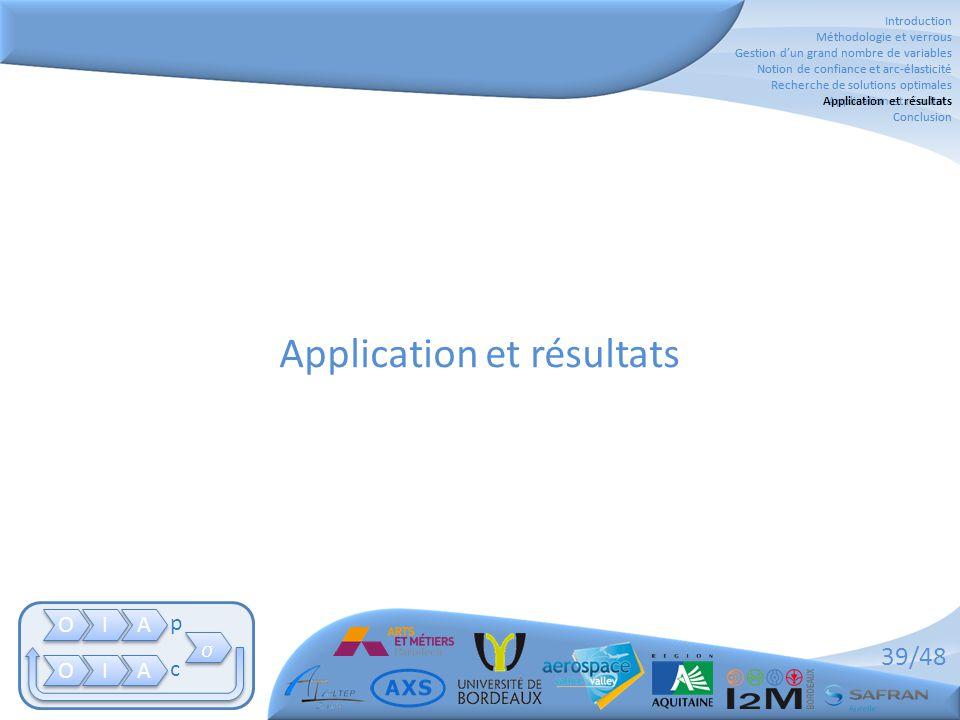 Application et résultats