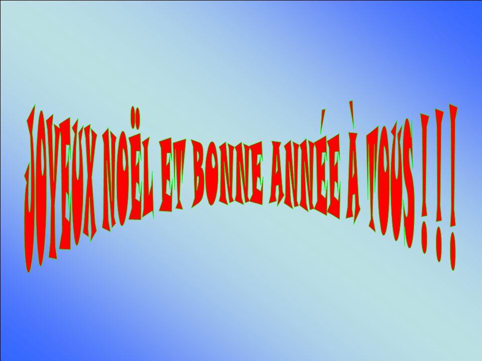 JOYEUX NOËL ET BONNE ANNÉE À TOUS ! ! !