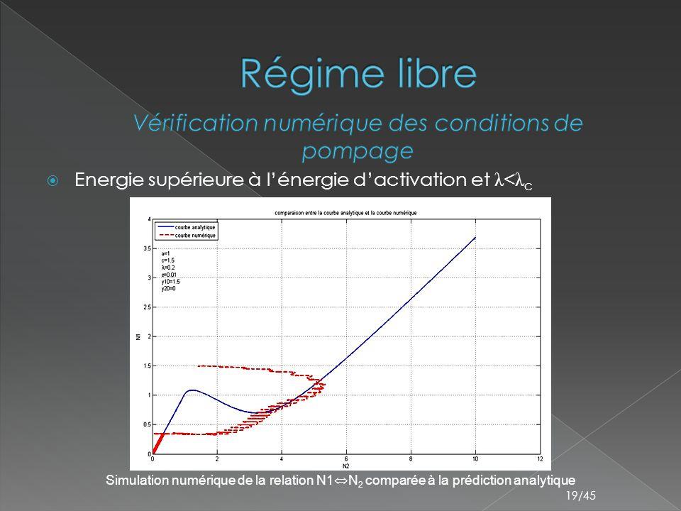 Vérification numérique des conditions de pompage