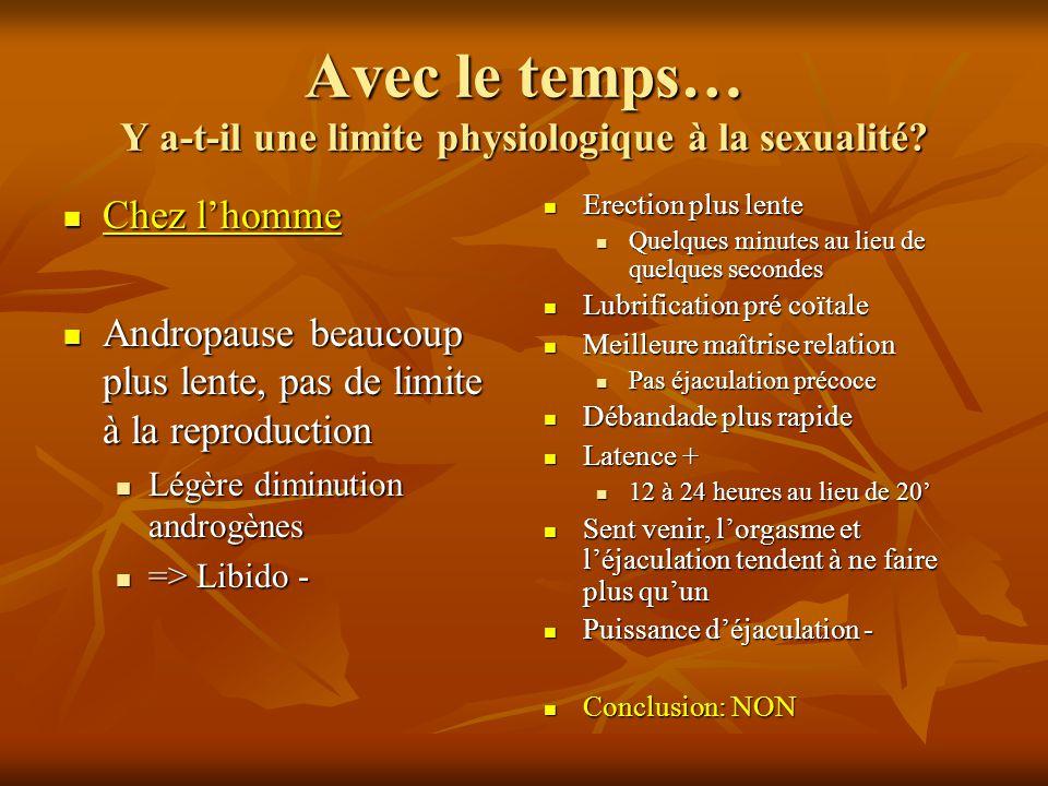 Avec le temps… Y a-t-il une limite physiologique à la sexualité