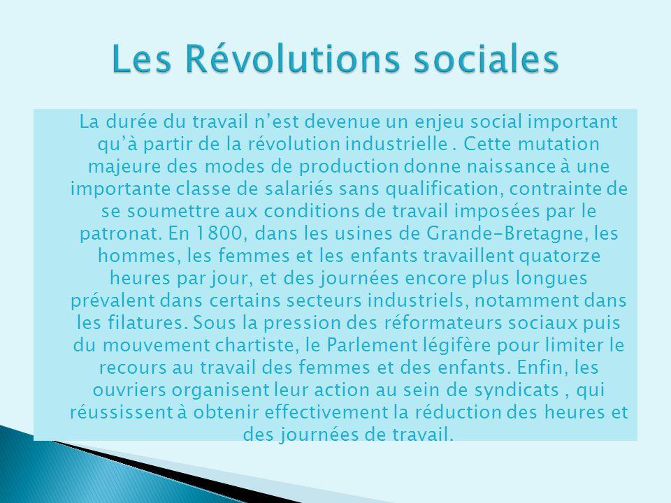Les Révolutions sociales