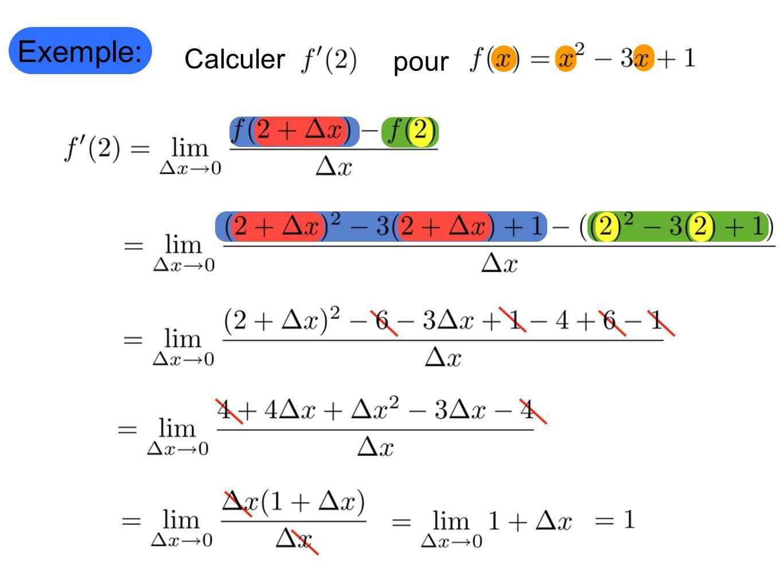 Exemple: Calculer pour