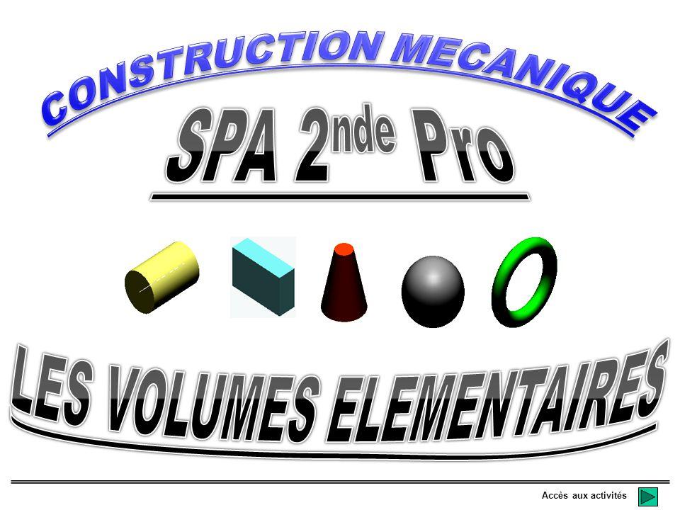 CONSTRUCTION MECANIQUE LES VOLUMES ELEMENTAIRES