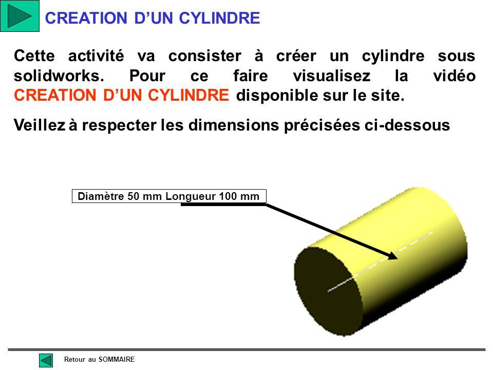 Diamètre 50 mm Longueur 100 mm