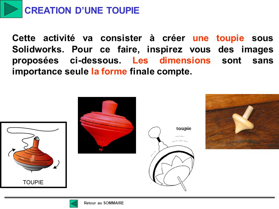 CREATION D'UNE TOUPIE