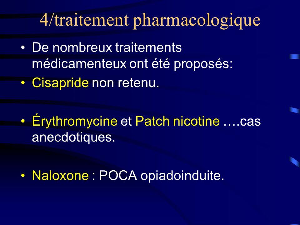 4/traitement pharmacologique