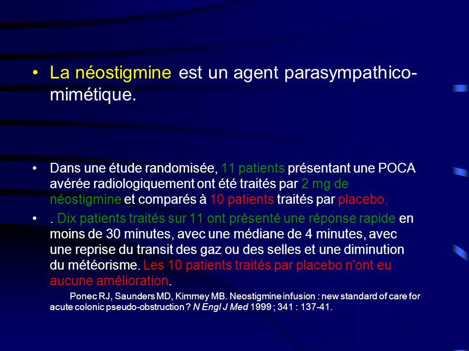 La néostigmine est un agent parasympathico-mimétique.
