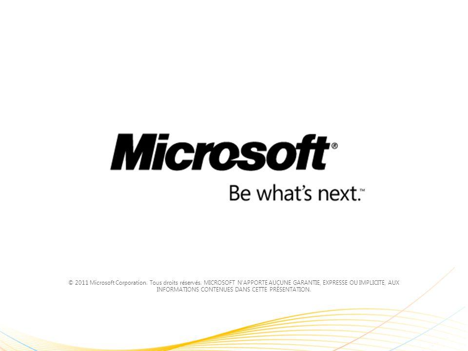 © 2011 Microsoft Corporation. Tous droits réservés