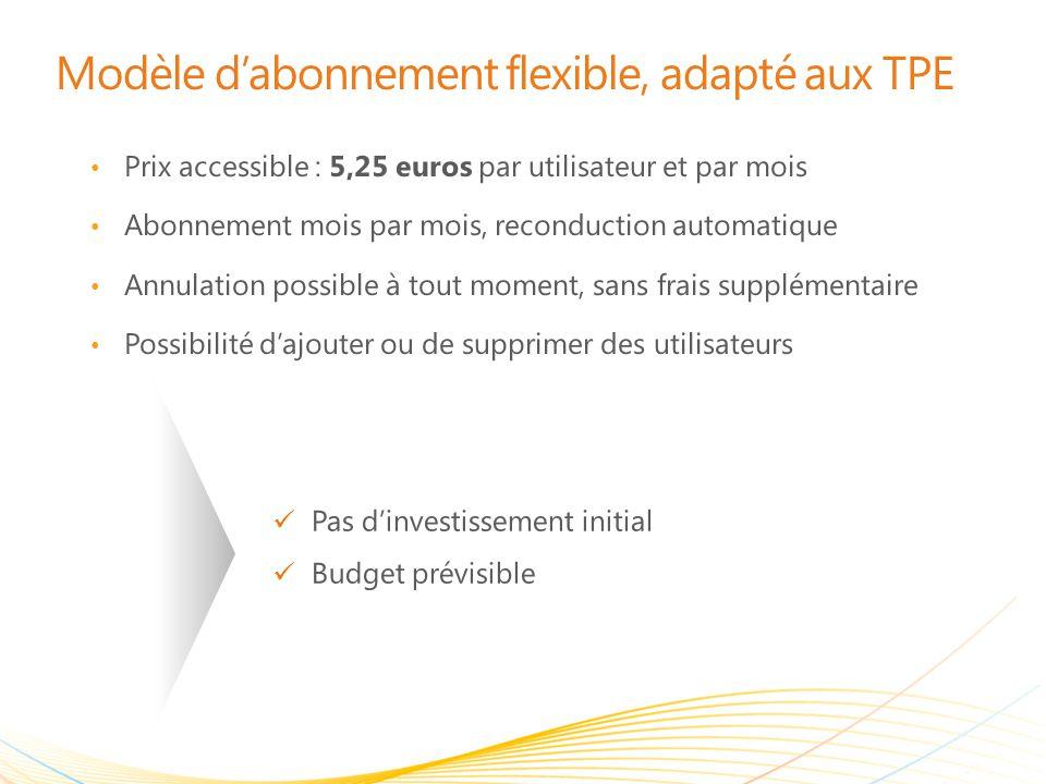 Modèle d'abonnement flexible, adapté aux TPE