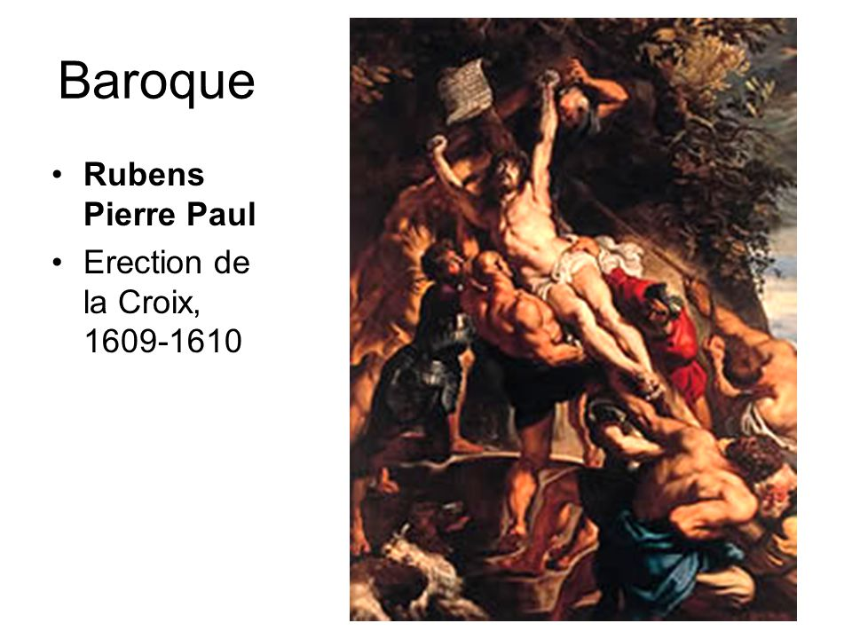 Baroque Rubens Pierre Paul Erection de la Croix, 1609-1610