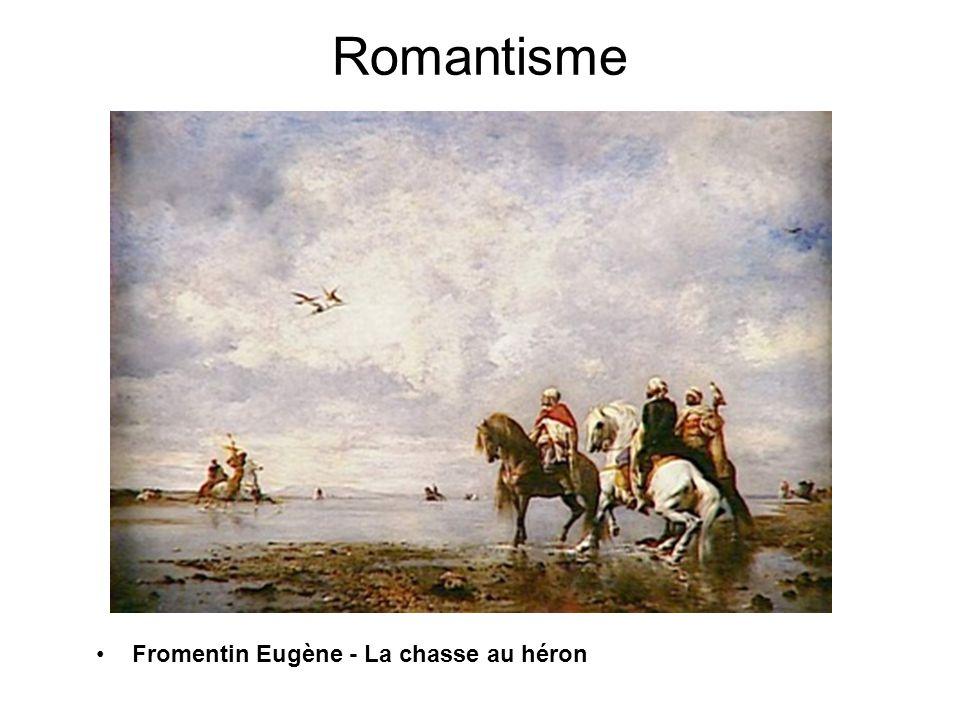 Romantisme Fromentin Eugène - La chasse au héron