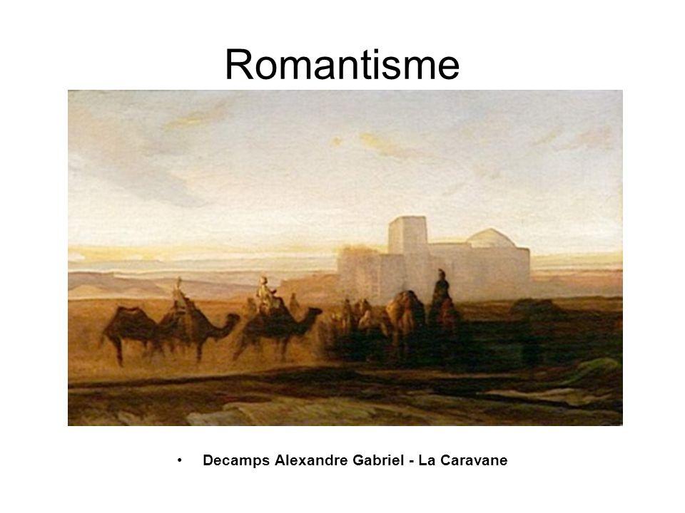 Romantisme Decamps Alexandre Gabriel - La Caravane