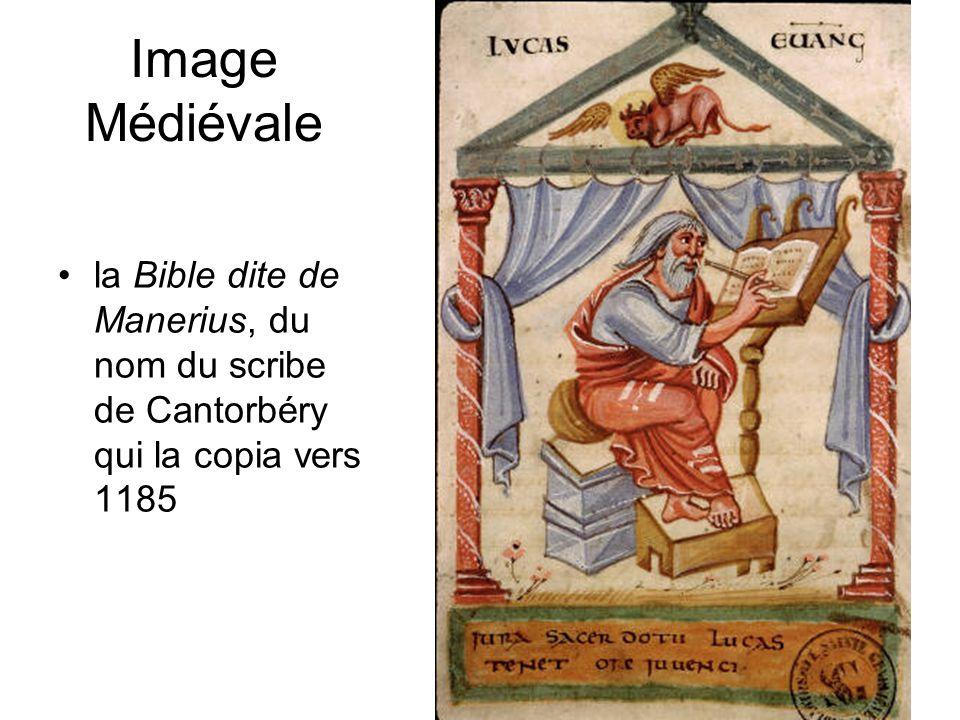 Image Médiévale la Bible dite de Manerius, du nom du scribe de Cantorbéry qui la copia vers 1185