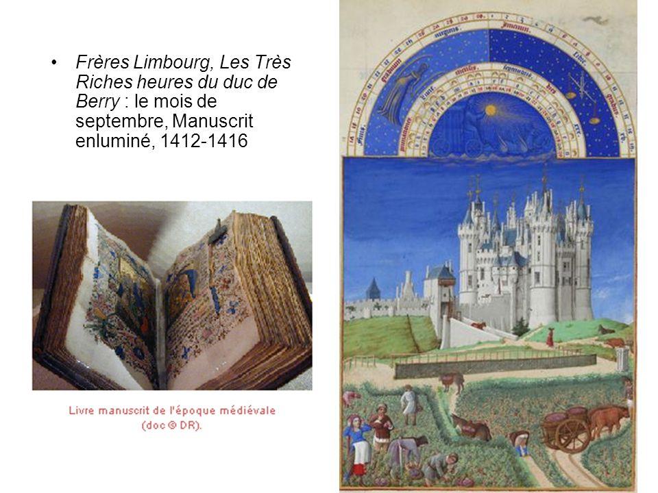 Frères Limbourg, Les Très Riches heures du duc de Berry : le mois de septembre, Manuscrit enluminé, 1412-1416