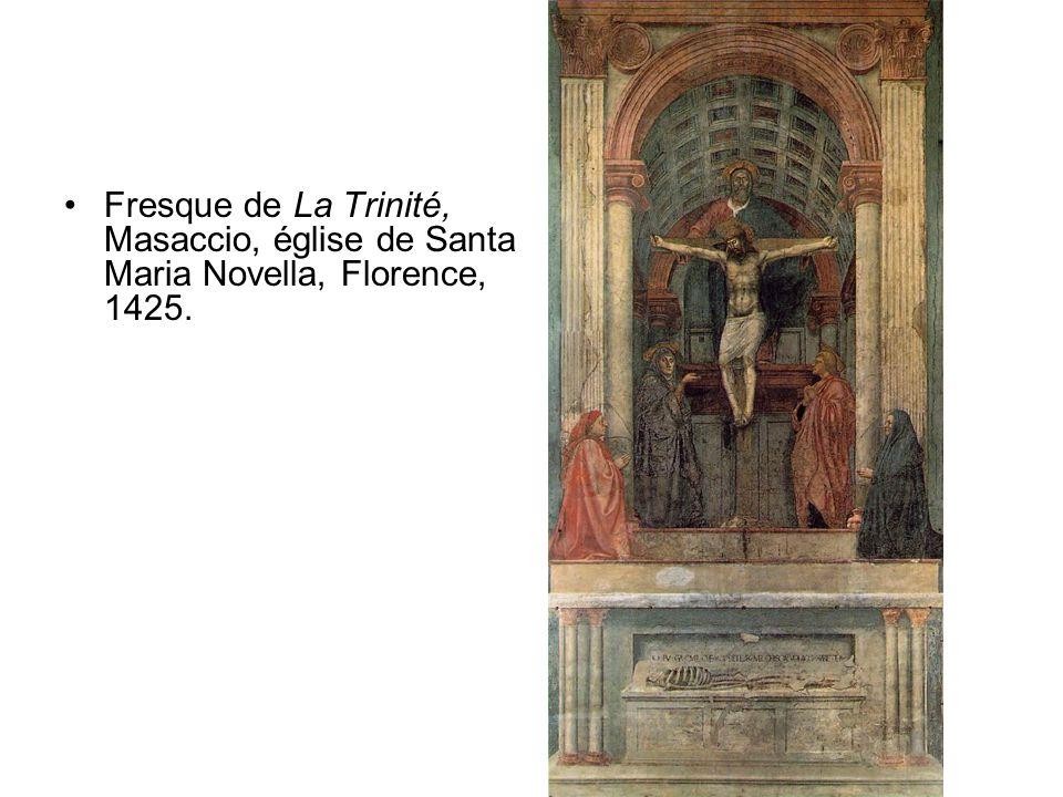 Fresque de La Trinité, Masaccio, église de Santa Maria Novella, Florence, 1425.