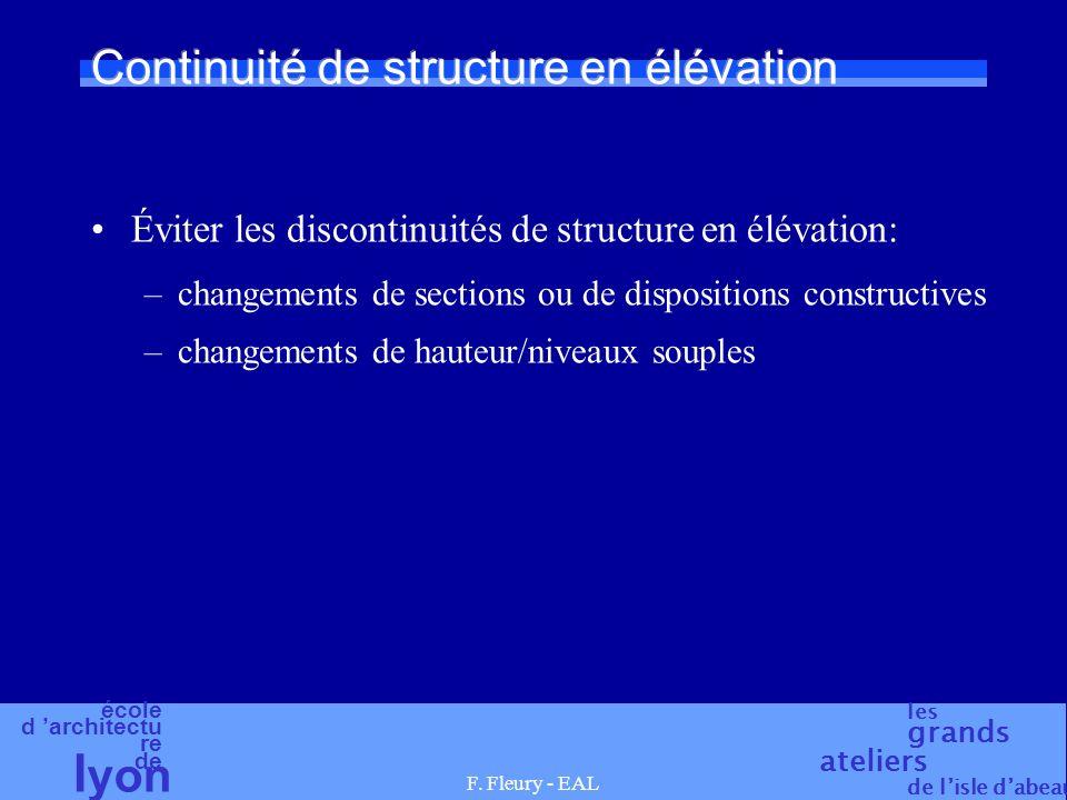 Continuité de structure en élévation