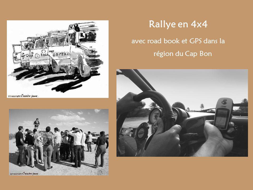 avec road book et GPS dans la région du Cap Bon