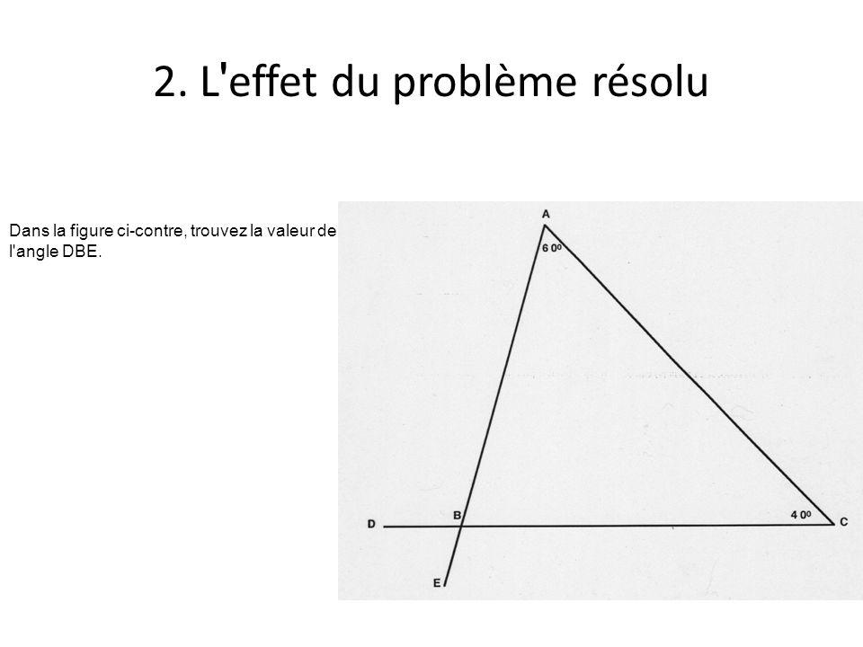2. L effet du problème résolu