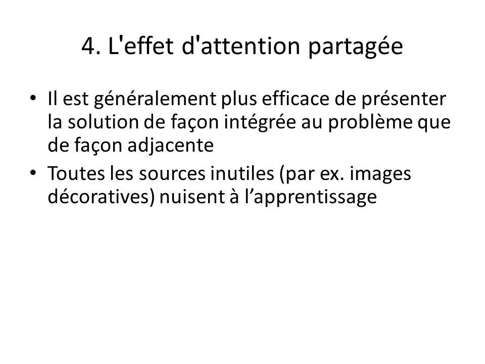 4. L effet d attention partagée