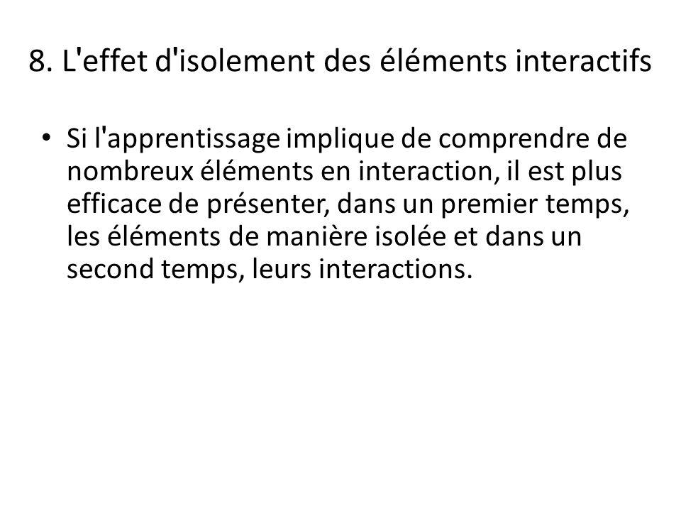 8. L effet d isolement des éléments interactifs