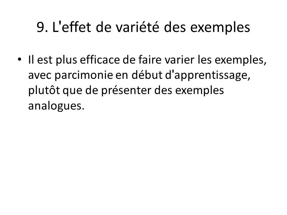 9. L effet de variété des exemples