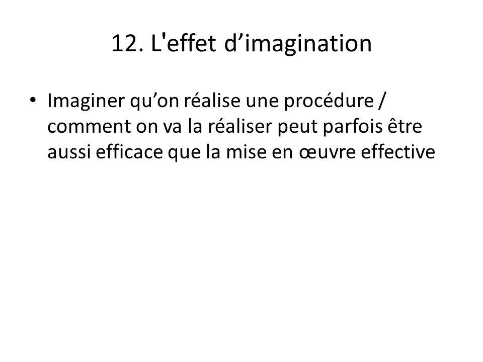 12. L effet d'imagination