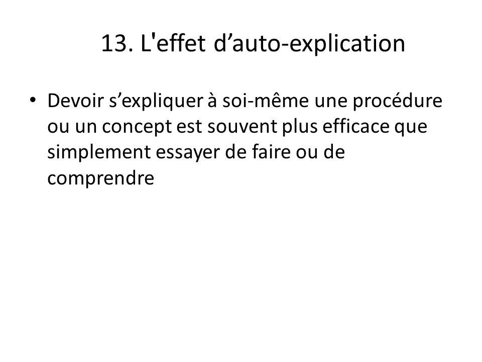 13. L effet d'auto-explication