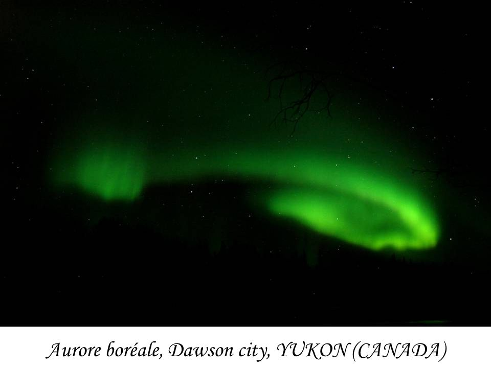 Aurore boréale, Dawson city, YUKON (CANADA)