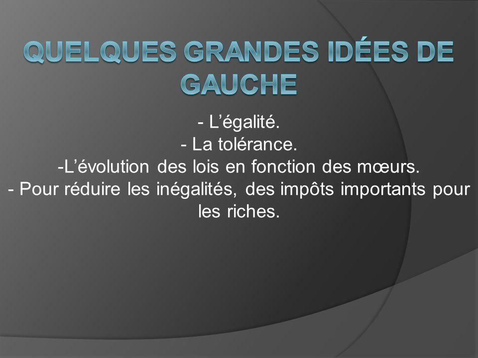 Quelques grandes idées de Gauche