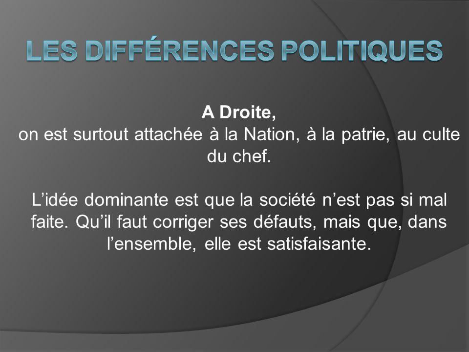 Les différences politiques