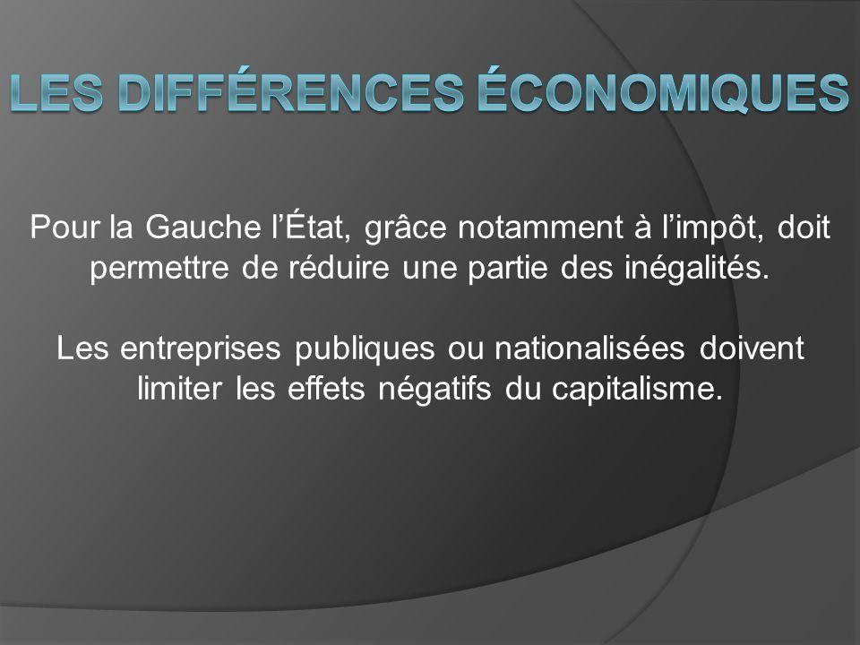 Les différences économiques