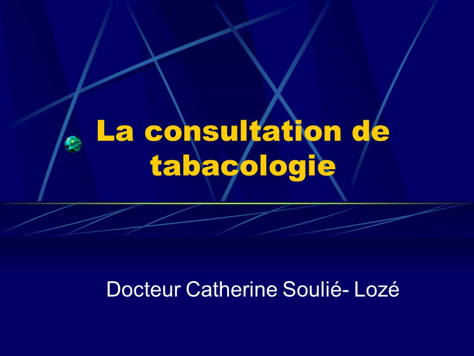 La consultation de tabacologie