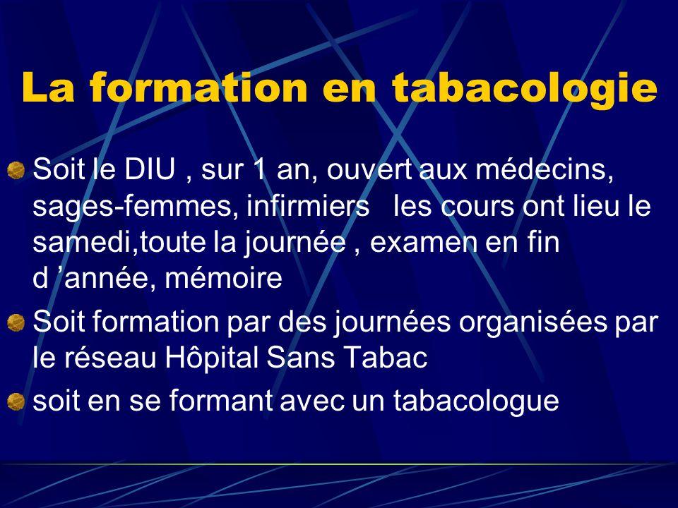 La formation en tabacologie