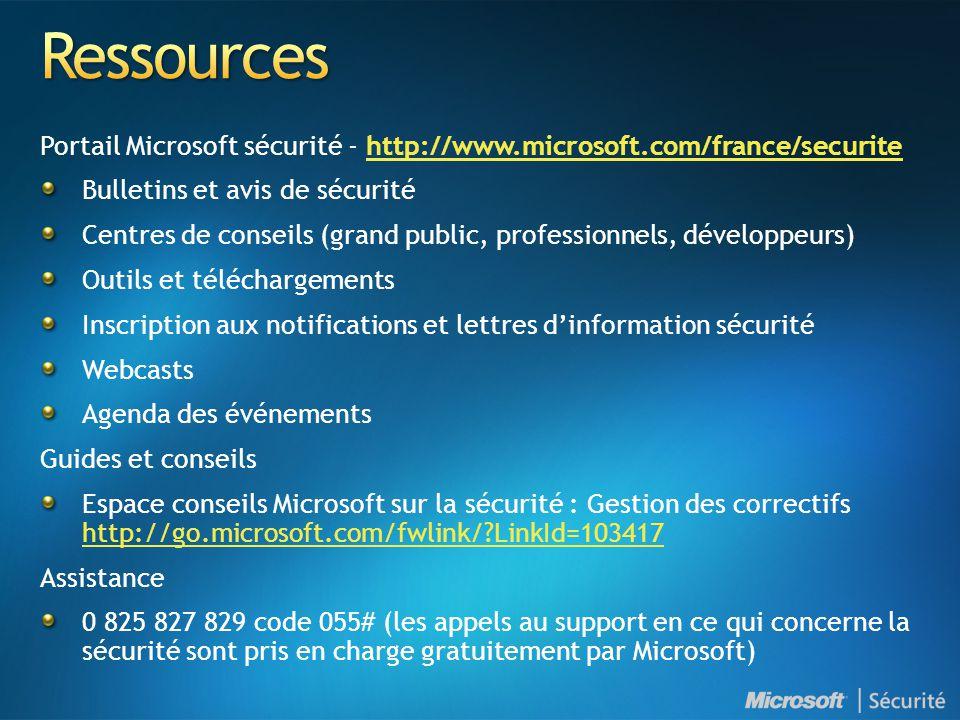 4/2/2017 1:12 PM Ressources. Portail Microsoft sécurité - http://www.microsoft.com/france/securite.