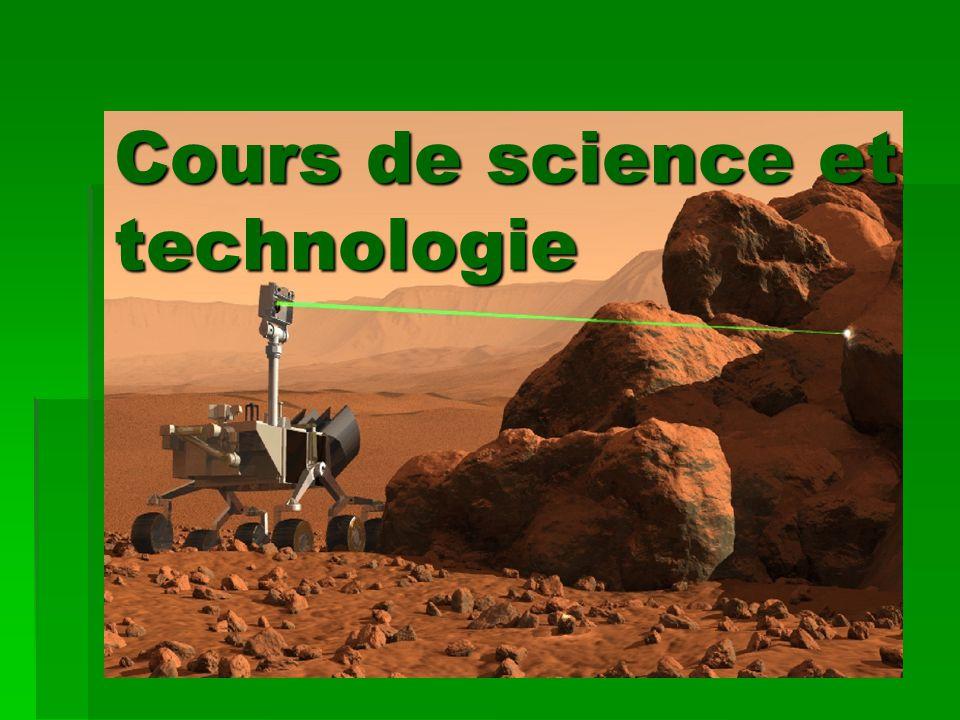 Cours de science et technologie