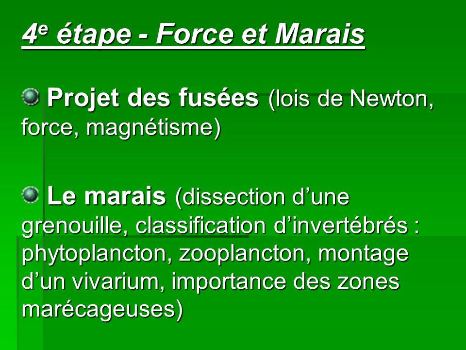 4e étape - Force et Marais