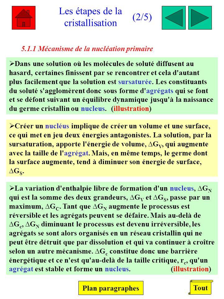 Les étapes de la cristallisation (2/5) 1.1