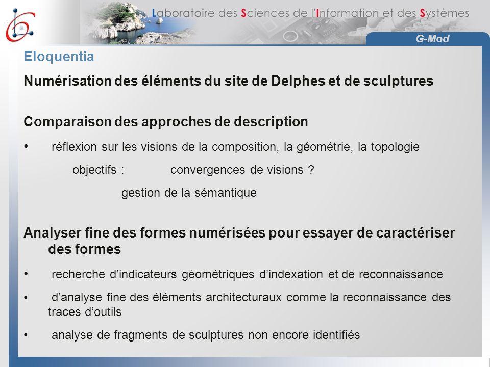 Numérisation des éléments du site de Delphes et de sculptures