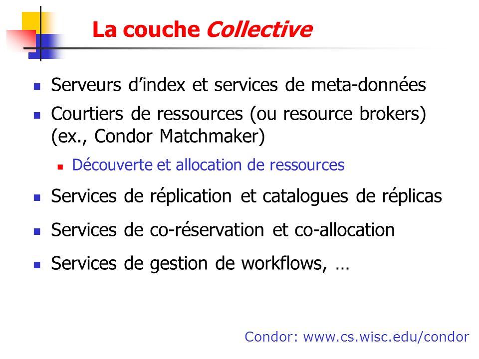 La couche Collective Serveurs d'index et services de meta-données