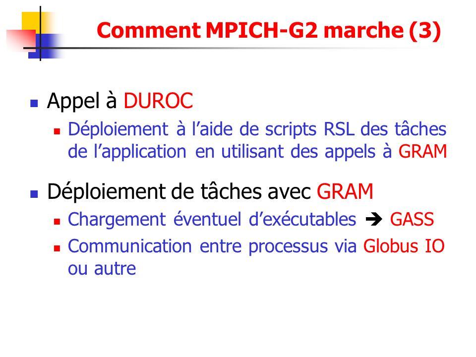 Comment MPICH-G2 marche (3)
