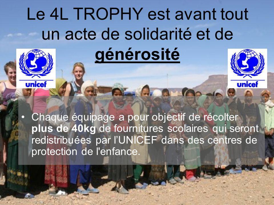 Le 4L TROPHY est avant tout un acte de solidarité et de générosité