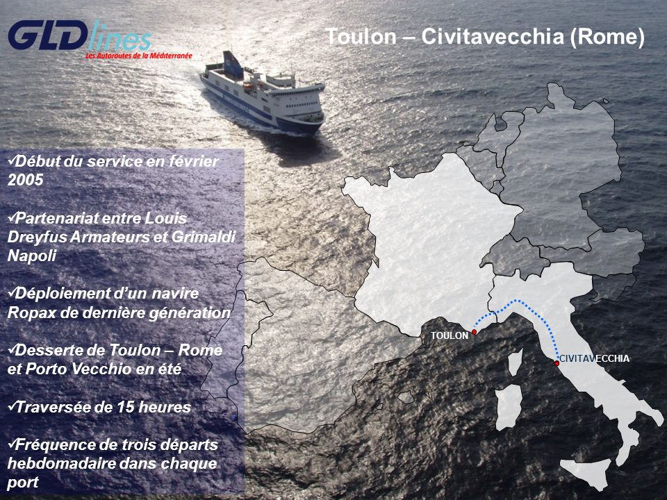 Toulon – Civitavecchia (Rome)