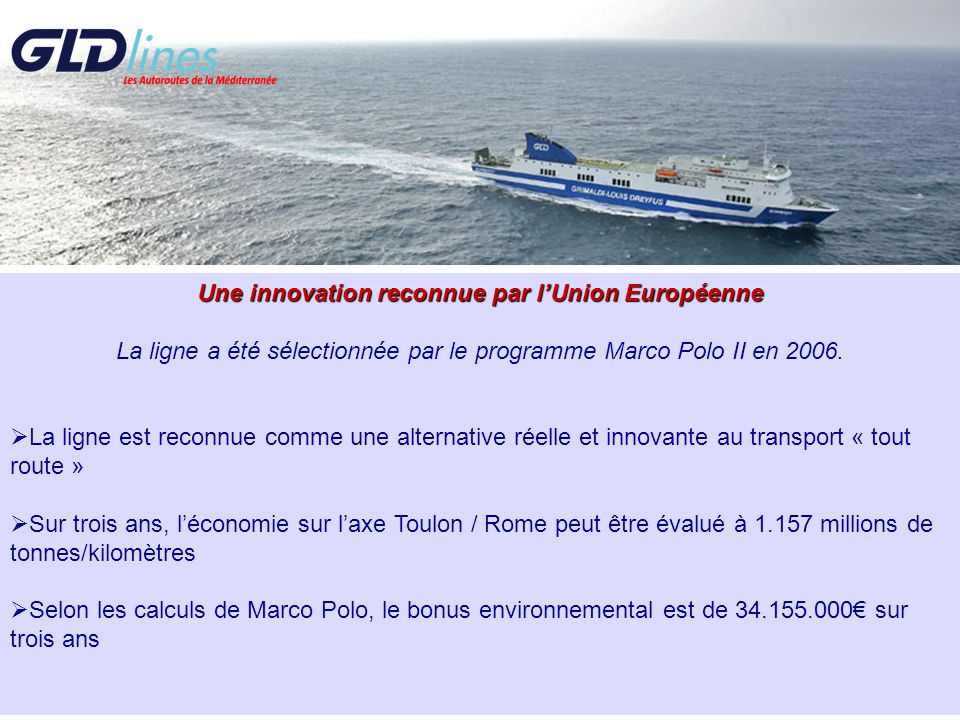 Une innovation reconnue par l'Union Européenne