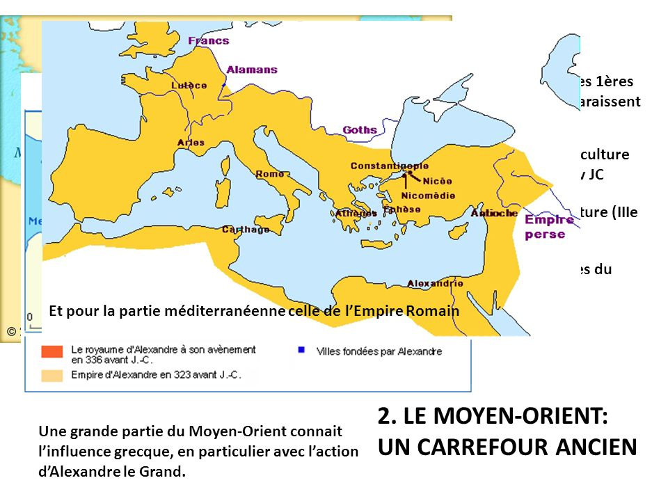 2. LE MOYEN-ORIENT: UN CARREFOUR ANCIEN