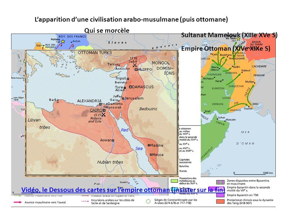L'apparition d'une civilisation arabo-musulmane (puis ottomane)